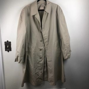 Vintage Brooks Brothers Long Trench Coat 44 L